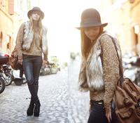 2014 autumn and winter Beige imitation fur vest Fur vest Fashion vest