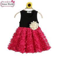 new dress summer korean children clothing little queen flower girl dress toddler dresses girl baby girl dresses