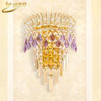 2014 special crystal wall lamp modern minimalist bedroom lamp wall lights free shipping