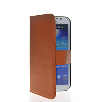 High Quality Card Slot Stand Movie Litchi Wallet Side Flip Leather Pouch Case Protector For Samsung Galaxy Mega 5.8 I9150