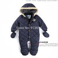 new 2014 autumn winter Romper baby clothes children outerwear newborn cotton Rompers baby boy jumpsuit kids jackets baby wear