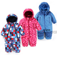 new 2014 autumn Winter romper newborn baby clothing infant windproof romper baby boys plaid striped jumpsuits baby girls Rompers