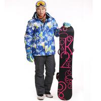 Dropshipping men's professional ski suit / brand outdoor jacket+Pants waterproof windproof mountaineering jacket+overall