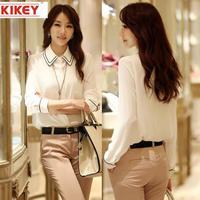 Womens Blouses 2014 Korean Version Of The Selling Casual Style Cute Peter Pan Collar Blouse Chiffon Shirt Blousas NZ469