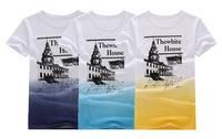 2014 new men's short-sleeved T shirt new summer short-sleeved T-shirt cotton round neck short sleeve T-shirt