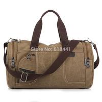 2014 men and women large capacity canvas travel bag casual cross-body luggage bag fashion handbag 4 colors