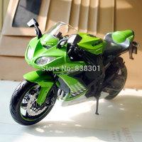 5pcs/lot Wholesale 1/12 Motorbike Model Toys Kawasaki Ninja ZX-10R Green Diecast Metal Motorcycle Model Toy -Free Shipping