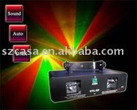 Free Shipping+Double Red+Green+Yellow 220mW Laser Light DMX PARTY DISCO DJ