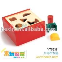 <BENHO/HIGH QUALITY WOODEN TOY>Shape Block Box (Sharp block,wooden shape block,wooden block box)