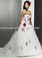flower wedding gown