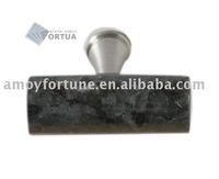 drawer knob granite knob with metal and Blue Pearl