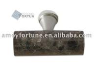 drawer knob granite knob with metal and Labrador Antique