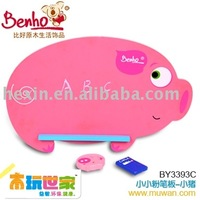 <BENHO/HIGH QUALITY WOODEN TOY>Chalkboard-pig ( chalk board,wooden board,wood chalk board)