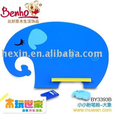 <BENHO/HIGH QUALITY WOODEN TOY>Chalkboard-ELEPHANT( chalk board,wooden board,wood chalk board)(China (Mainland))