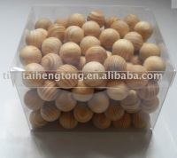 wooden ball wooden craft  gift ball scented ball