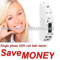 Watt-hour meter - 10 pieces of DIN rail Electric kwh meter