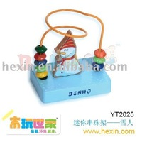 <BENHO/HIGH QUALITY WOODEN TOY>Mini beads rack-Snow Man (beads rack,labyrinth,wood beads rack )