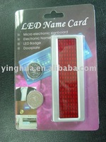 LED Name Card name Badge, LED Name Tag, LED Message Badge with different color