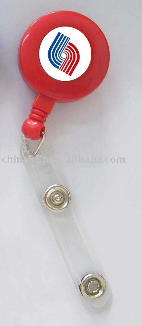 red color pull reel in round shape of the nylon or steel material retractable cord(China (Mainland))
