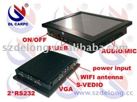 10.4in 1GRAM 8G SSD touch pc with 4COM(2 extend),aluminium box+Free shiping