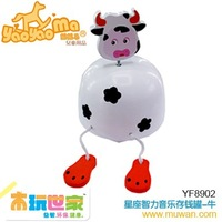 <BENHO/HIGH QUALITY WOODEN TOY>Music money box-COW