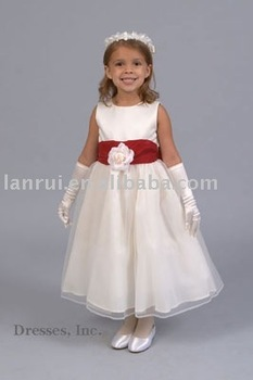 free shipping little queen flower girl dress
