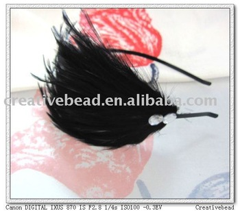 free shipping , 2011 new fashion feather headband, hairband, Christmas gift, Christmas party headband