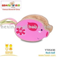 <BENHO/HIGH QUALITY WOODEN TOY>wooden baby toys- Rock bell