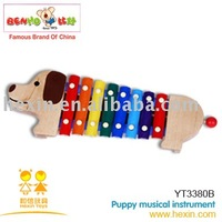 <BENHO/HIGH QUALITY WOODEN TOY>Puppy musical instrument  ( Xylophone toy,musical instrument toy,wooden music set toy )