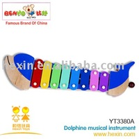 <BENHO/HIGH QUALITY WOODEN TOY>Dolphine musical instrument  ( Xylophone toy,musical instrument toy,wooden music set toy )