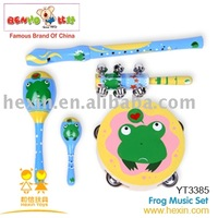 <BENHO/HIGH QUALITY WOODEN TOY>Wooden toys-Frog Music Set ( wooden music set,toy music set, baby music toys)