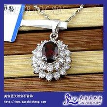 Wholesale Fashion 925 Silver Pendant,Natural Garnet Jewelry(z0507104ags)(China (Mainland))