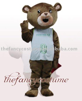 Brown Bear Mascot Costume free shipping(China (Mainland))