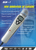 FREE SHIPPING- SD1 Music Video Player in Karaoke Microphone