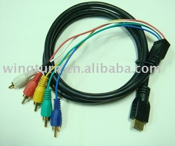HDMI Male to 5 RCA RGB Audio Video AV Component Cable