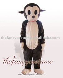 Fur Adult Monkey Mascot Costume Fursuit Fancy Dress Adult Halloween free shipping(China (Mainland))