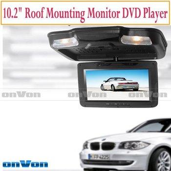 "10.2"" Car Roof Mount DVD Player USB SD IR FM dome light 360"