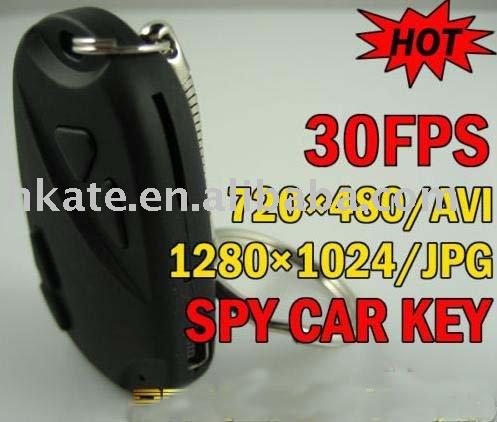 Hoge- kwaliteit 720 x 480 avi 1280 x 1024 pixels mini 808 auto auto sleutelhanger verborgen camera avp009a