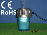 Ultrasonic mist maker (Humidifier and Strong Negative Ionizer; Use at car, home or office)