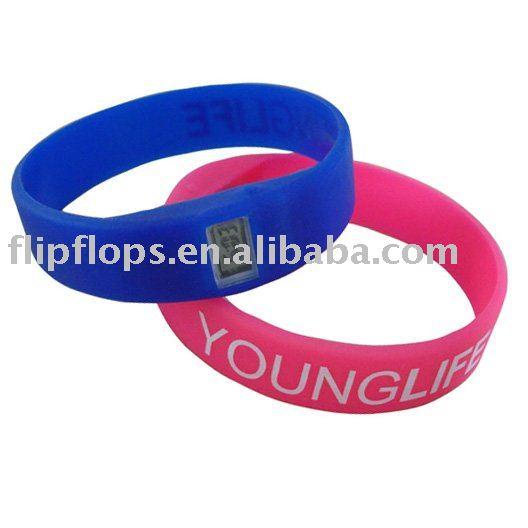 Custom silicone rubber bracelets