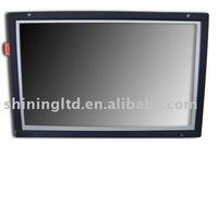 "10.2"" wide screen advertising display in open frame"