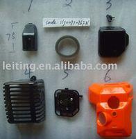Engine shell plastic