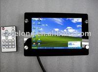 "7""Open frame monitor with LED Backlight/touch screen for USB/RS232,VGA input/2* AV input, AV controllor cable"