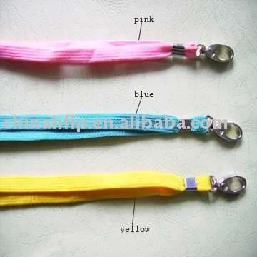 fashion neck strap with metal hook for attachment have pink/blue/yellow or others colors(China (Mainland))