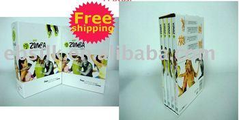 Wholesale-5pcs/lot old version zumba/zumba fitness dvd/zumba fitness +gift & free shipping