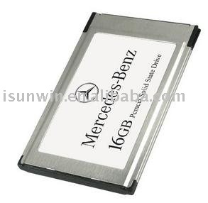 Free Shipping DHL/EMS 16GB SSD Car MP3 Player PCMCIA Card Multimedia For Mercedes-Benz SLK200 SLK280 SLK350 SLK55AMG CLS350