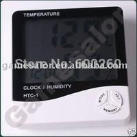 Digital Temperature Humidity Meter Thermometer LCD Clock Alarm