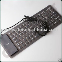 free shipping USB flexible foldable silicone keyboard for pc mac #9710 free shipping(China (Mainland))