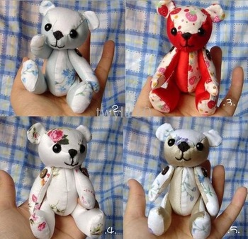 fashion Teddy bear doll Retail and wholesale 120pcs