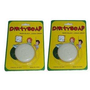 Wholesale 240pcs/lot Dirty Face Bar of Soap Joke Gag Gift Prank Trick[50off EMS]
